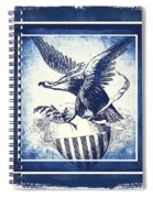 On Eagles Wings Blue Spiral Notebook