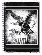 On Eagles Wings Bw Spiral Notebook