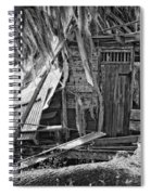 On Evergreen Platation Black And White Spiral Notebook