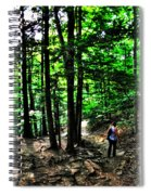 On Our Way Chasing The Eternal Flame At Chestnut Ridge Park Spiral Notebook