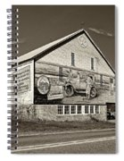 On The Lincoln Highway Sepia Spiral Notebook