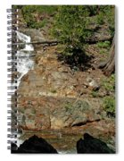 On The Rocks Glen Alpine Creek And Falls Spiral Notebook