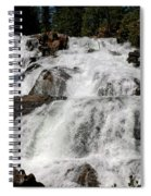 On The Rocks Glen Alpine Falls Spiral Notebook