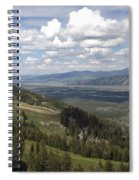 On Top Of Rendezvous Mountain Spiral Notebook