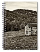 Once Upon A Mountainside Sepia Spiral Notebook