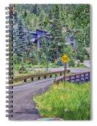 One Lane Bridge - Vail Spiral Notebook