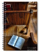 Open Book On Church Pew Spiral Notebook