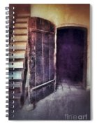 Open Door By Staircase Spiral Notebook