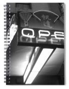 Open For Business Bw Spiral Notebook