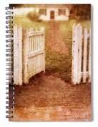 Open Gate To Cottage Spiral Notebook