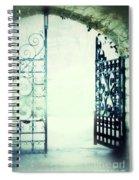 Open Iron Gate In Fog Spiral Notebook