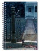 Open Iron Gate To Old House Spiral Notebook