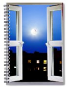 Open Window At Night Spiral Notebook