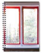 Open Window In Cottage Spiral Notebook