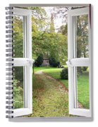 Open Window To A Church Garden Spiral Notebook