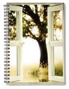 Open Window To Tree Spiral Notebook