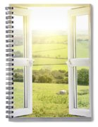 Open Window With Countryside View Spiral Notebook