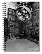 Operating Room - Eastern State Penitentiary - Black And White Spiral Notebook