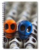 Orange And Blue Spiral Notebook