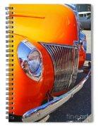 Orange Beauty Spiral Notebook