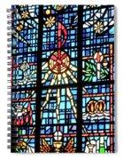 Orange Blue Stained Glass Window Spiral Notebook