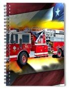 Orange Fire Auth T43 Spiral Notebook
