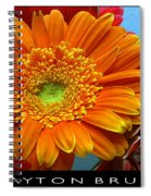 Orange Floral Spiral Notebook