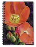 Orange Globe Mallows Spiral Notebook