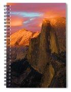 Orange Half Dome Spiral Notebook