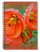 Orange Hibiscus Flowers Spiral Notebook