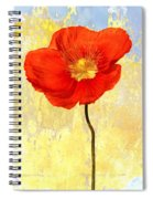 Orange Iceland Poppy On Yellow And Blue Spiral Notebook