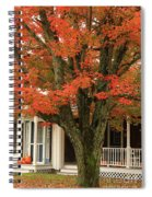 Orange Leaves And Pumpkins Spiral Notebook