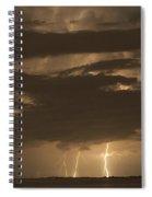 Orange Lightning Spiral Notebook
