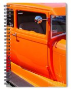 Orange Passenger Door Spiral Notebook