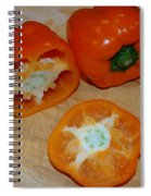 Orange Peppers Spiral Notebook