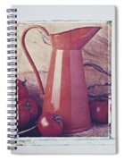 Orange Pitcher And Tomatoes Spiral Notebook