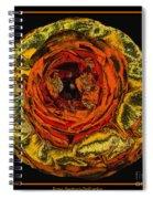 Orange Ranunculus With A Chrome Effect Spiral Notebook