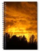 Orange Stormy Skies Spiral Notebook