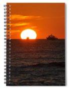 Orange Sunset II Spiral Notebook