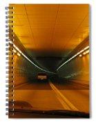 Orange Tunnel In Dc Spiral Notebook
