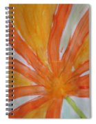 Oranje Bloemblaadje Spiral Notebook