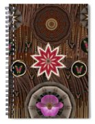 Orchids And Leather Spiral Notebook