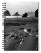 Oregon Coast Black And White Spiral Notebook