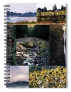 Oregon Collage From Sept 11 Pics Spiral Notebook