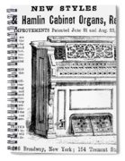 Organ Ad, 1870 Spiral Notebook