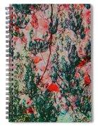 Oriental Brush Work Spiral Notebook