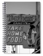 Original Nathan's In Black And White  Spiral Notebook