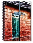 Orleans And Bourbon Streets Spiral Notebook