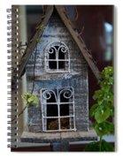Ornamental Bird House Spiral Notebook