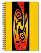 Ornamental Vase - Fire Spiral Notebook